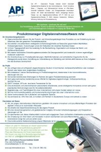 170502_Stellenanzeige_Produktmanager_Digitalannahmesoftware_JaS_MH