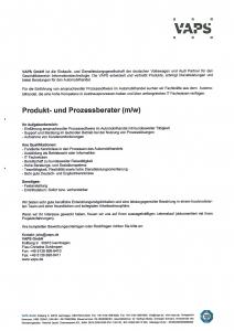Produkt- und Prozessberater